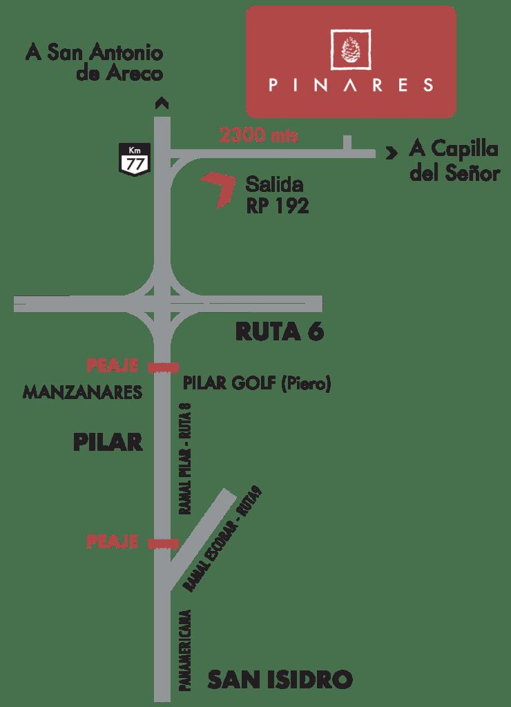 mapa pinares
